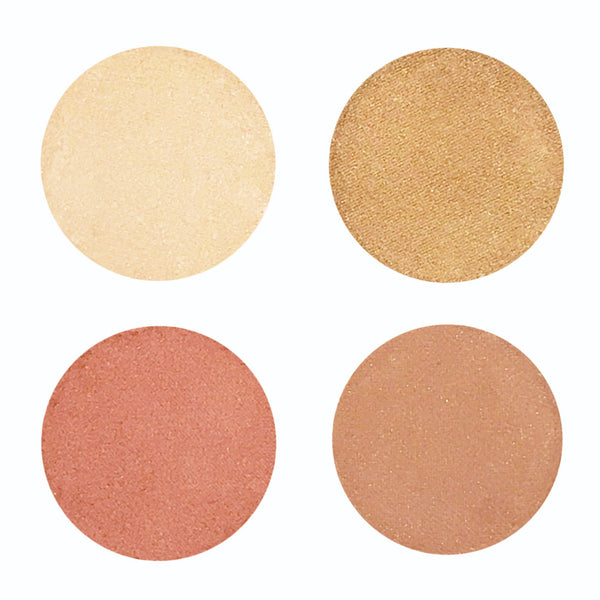 Golden Hour - Pressed Mineral Natural Eye Makeup Palette