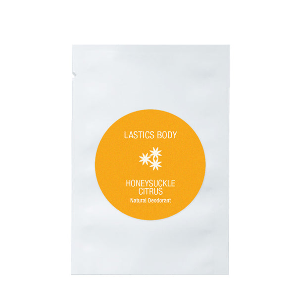 Single Serve Packet: Honeysuckle Citrus Natural Deodorant | LASTICS BODY