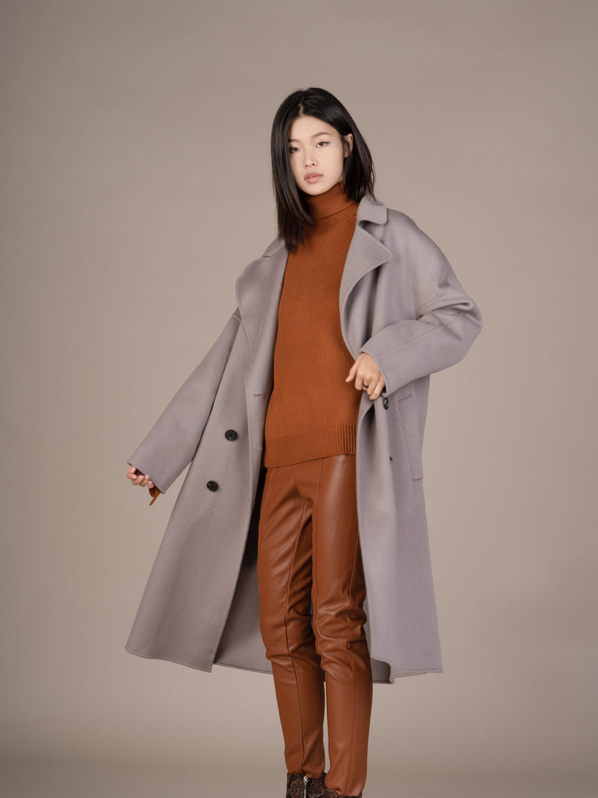 19FW011-C Novah Double Breasted Coat