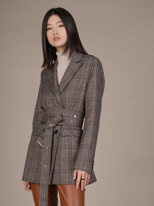 19FW107-B Sarah Work Chic Long Blazer