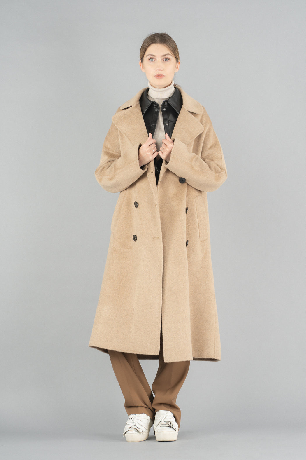 19FW011-A Novah Double Breasted Coat