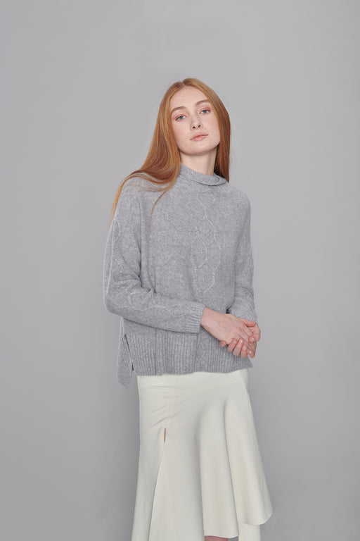 CS001A Grey Cashmere Sweater
