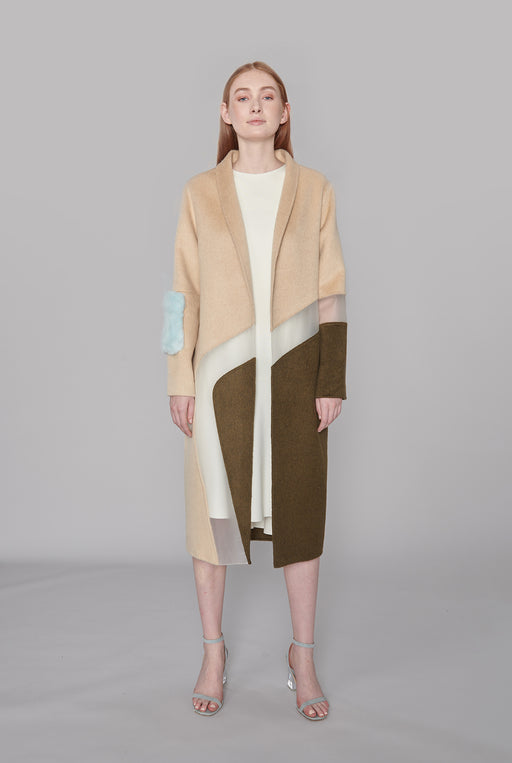 JL049A Cocoon Graphic Coat