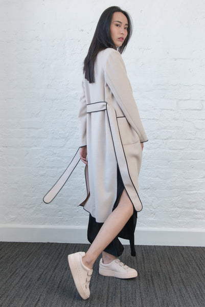 JL015 Double face cashmere cream France coat
