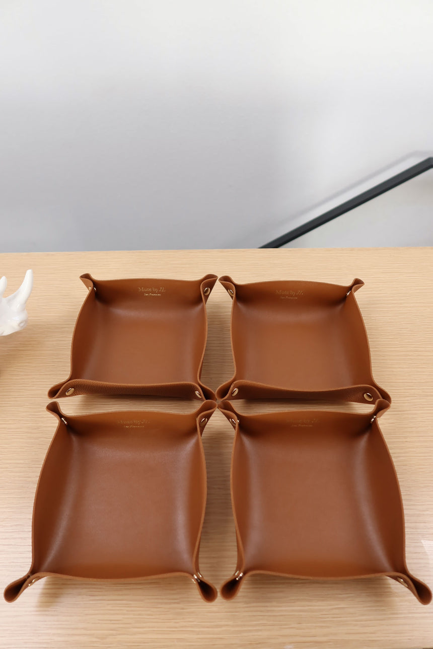 MH503 Brown Vegan Leather Tray