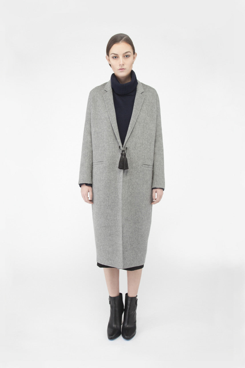 JL002A Handmade cashmere cocoon coat