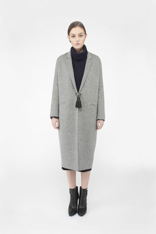 MT002A Handmade cashmere cocoon coat