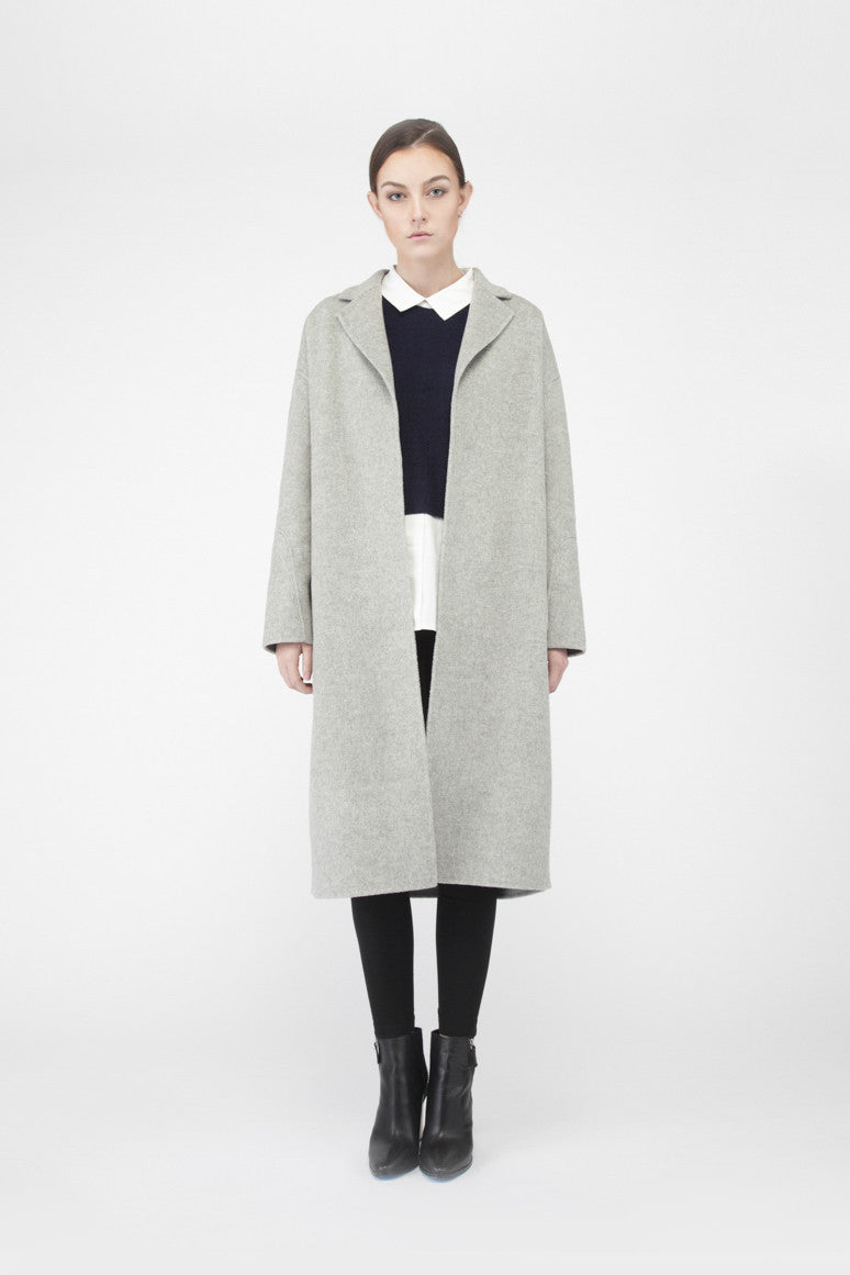 MT004 Handmade cashmere oversized coat