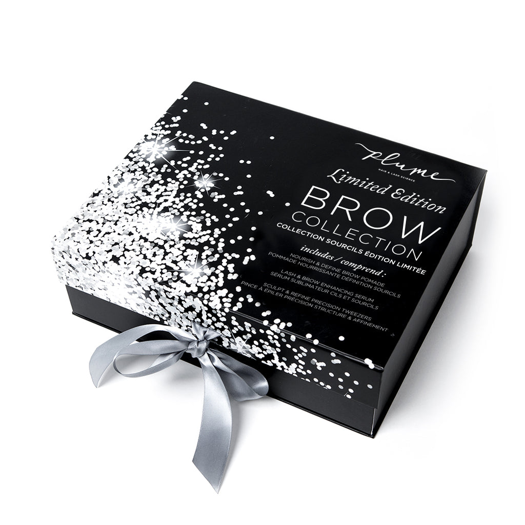 All-in-one brow boosting kit box