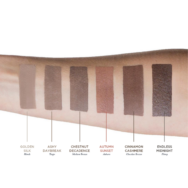 Nourish & Define Brow Pomade with Dual ended brush Color Swatches