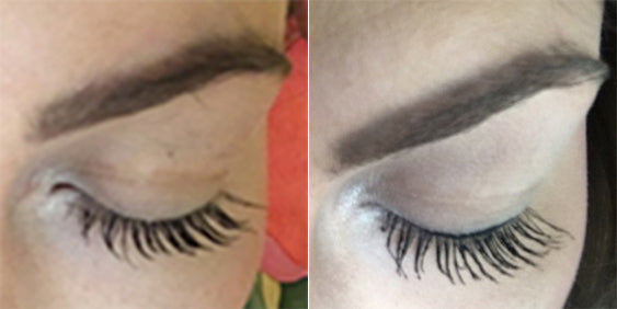 Results after 5 weeks using Plume Lash Serum