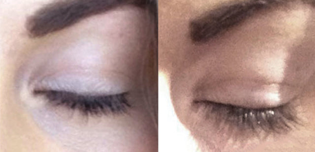 Results after 4 weeks using Plume Lash Serum