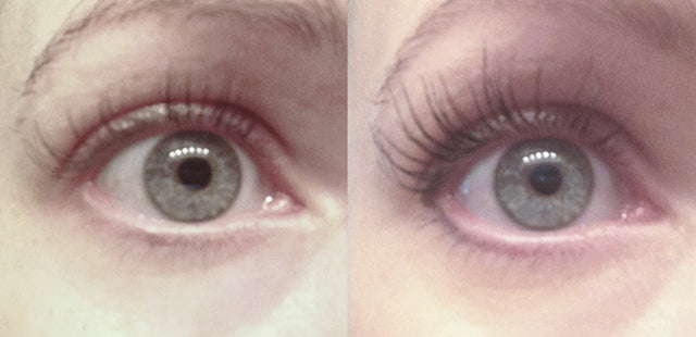 Results after 3 weeks using Plume Lash Serum