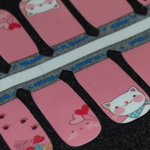 Check Meowt - Youth Size Nail Polish Strips