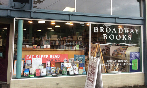 The storefront of Broadway Books