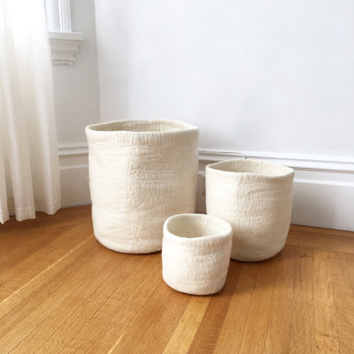 Felt Storage Baskets - Love Fest Fibers - Yuba Nesting Basket Set