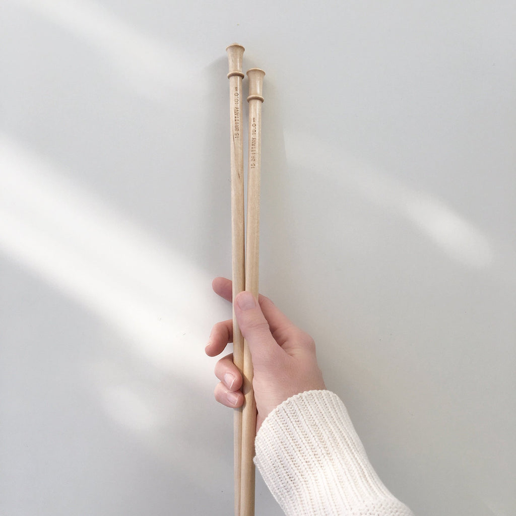 Brittany Solid Birch Knitting Needles made from sustainably sourced wood