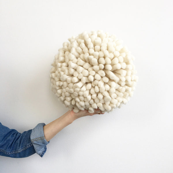 Love Fest Fibers Giant Pom Pom Pillow