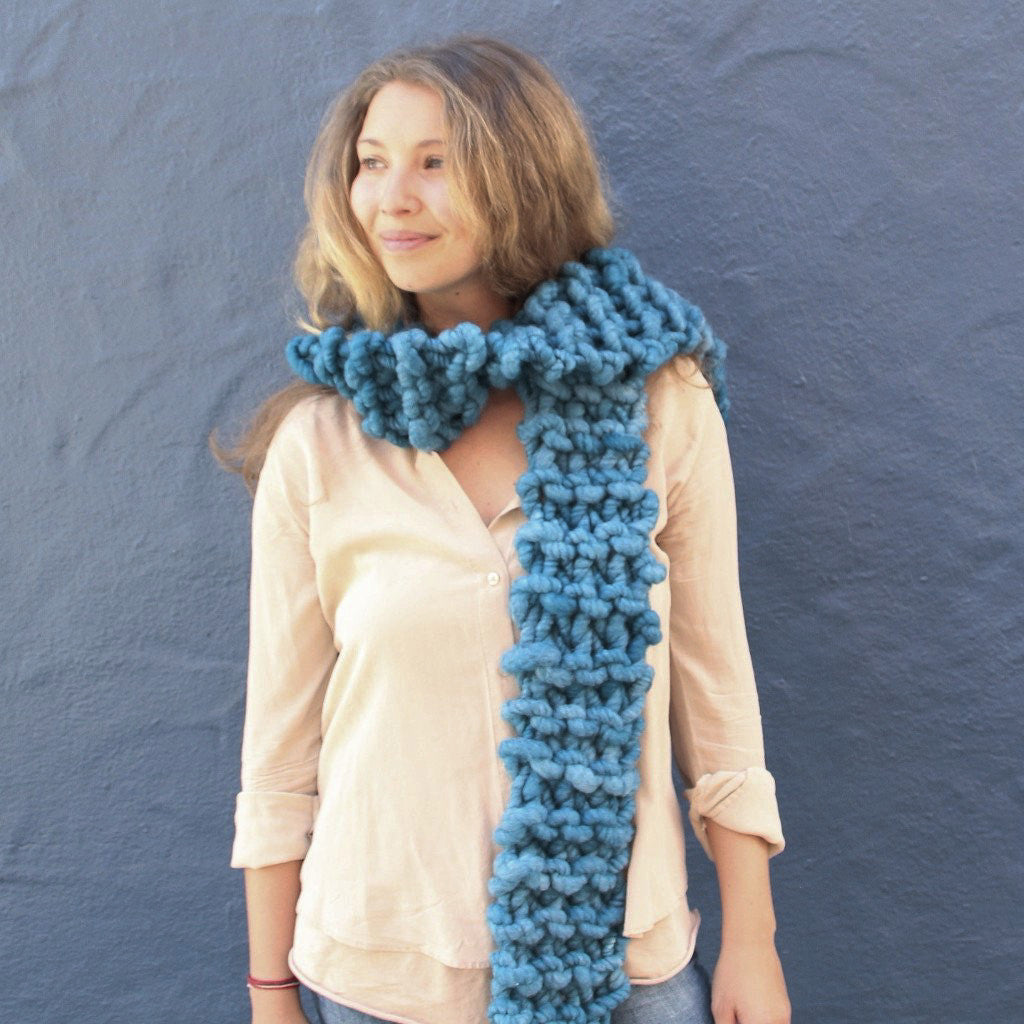 Love Fest Fibers Free Chunky Knit Scarf Knitting Pattern