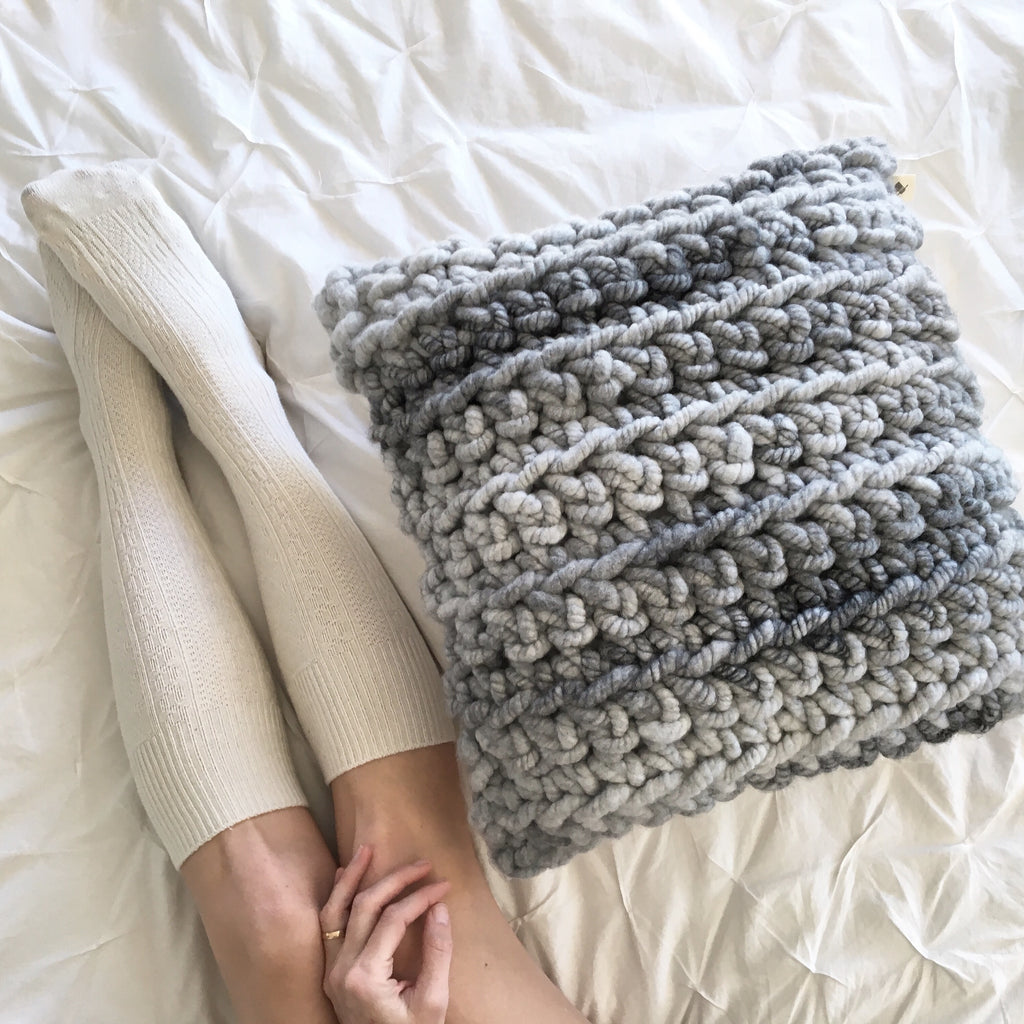 Knot Twist Pillow Chunky Crochet Free Pattern Love Fest Fibers
