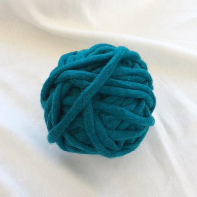 Tough Love Super Chunky Teal Felt Yarn