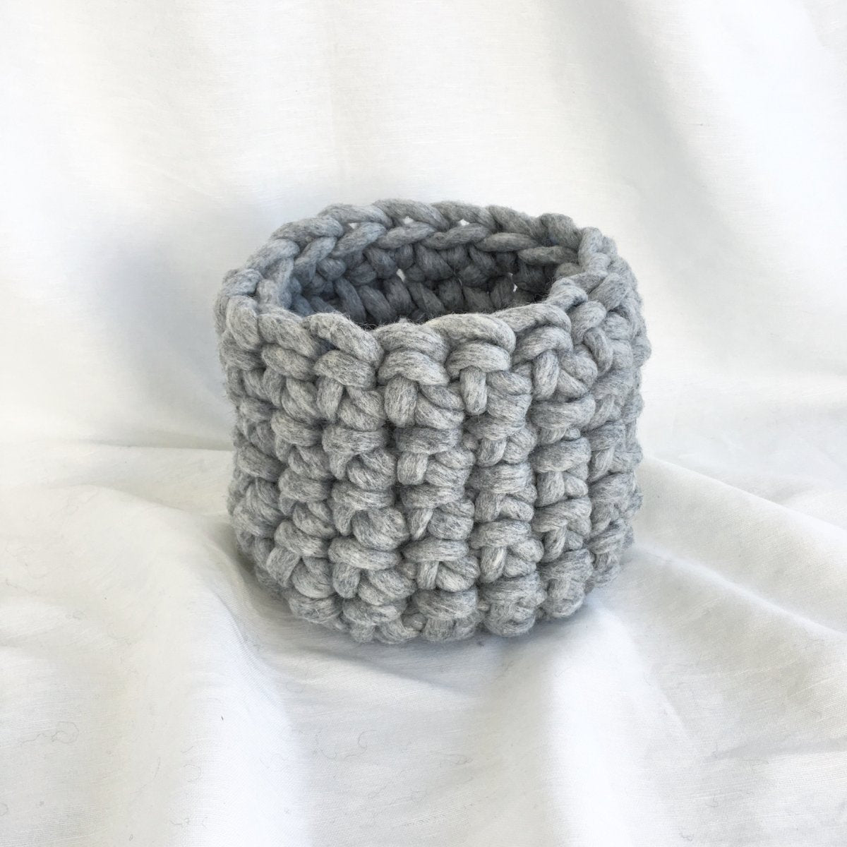 chunky yarn crochet basket free pattern