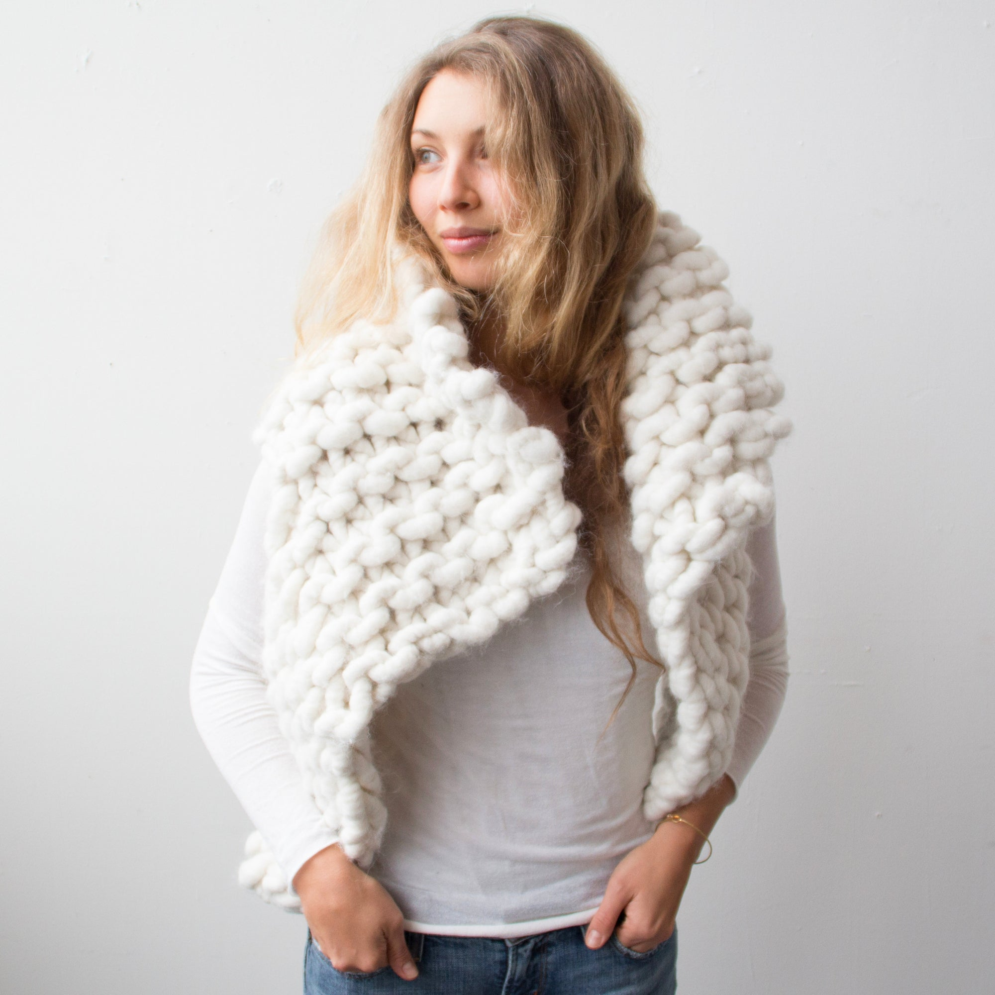 Chunky knit vest free knitting pattern