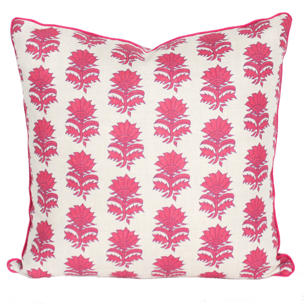 Colored Thistle Pillow