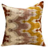 Ankara Velvet Ikat Pillow