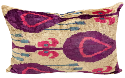 Bikem Velvet Ikat Pillow