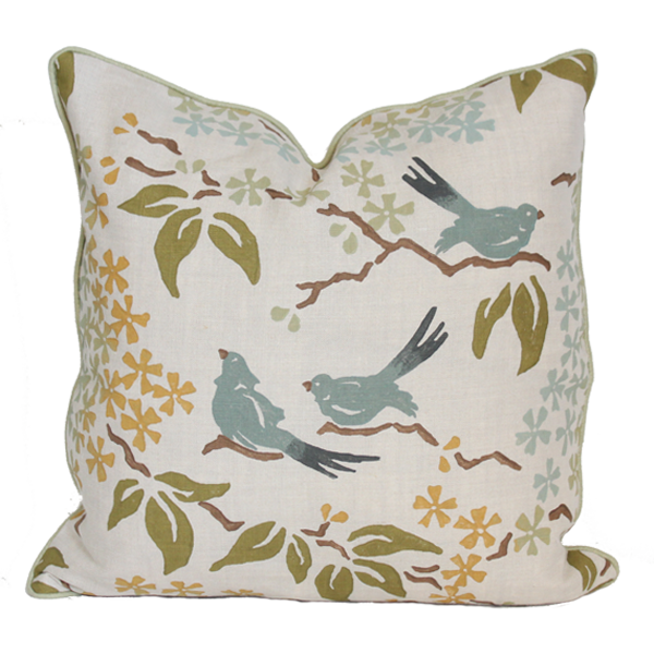 Birds Blue Pillow