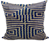 Box Blue Velvet Ikat