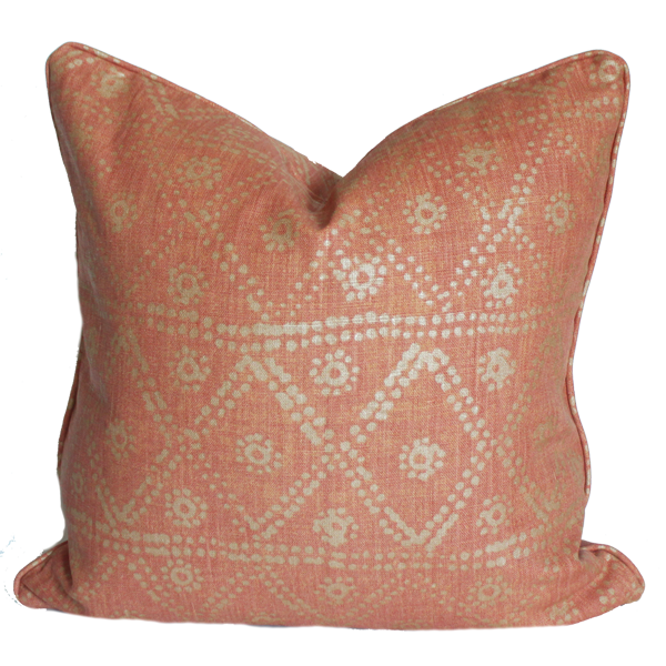 Zig Zag Coral Pillow
