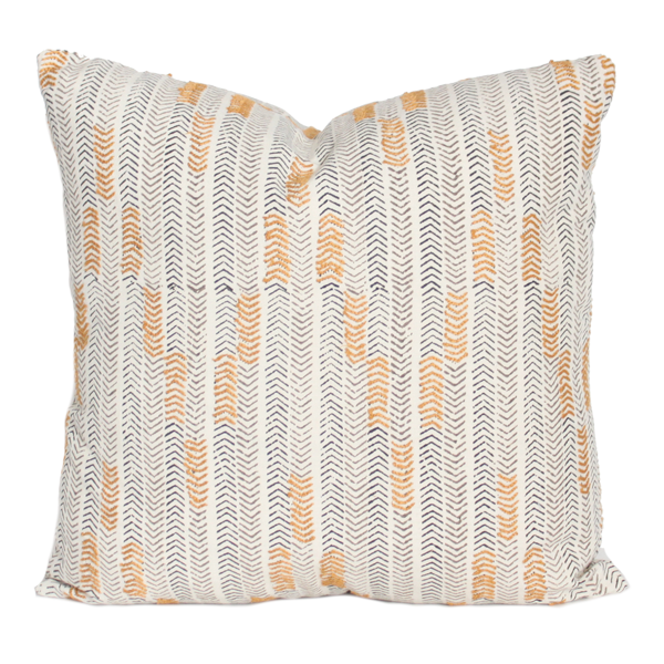 Chowpatty Hathi Grey Pillow