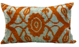 Corum Velvet Ikat Pillow