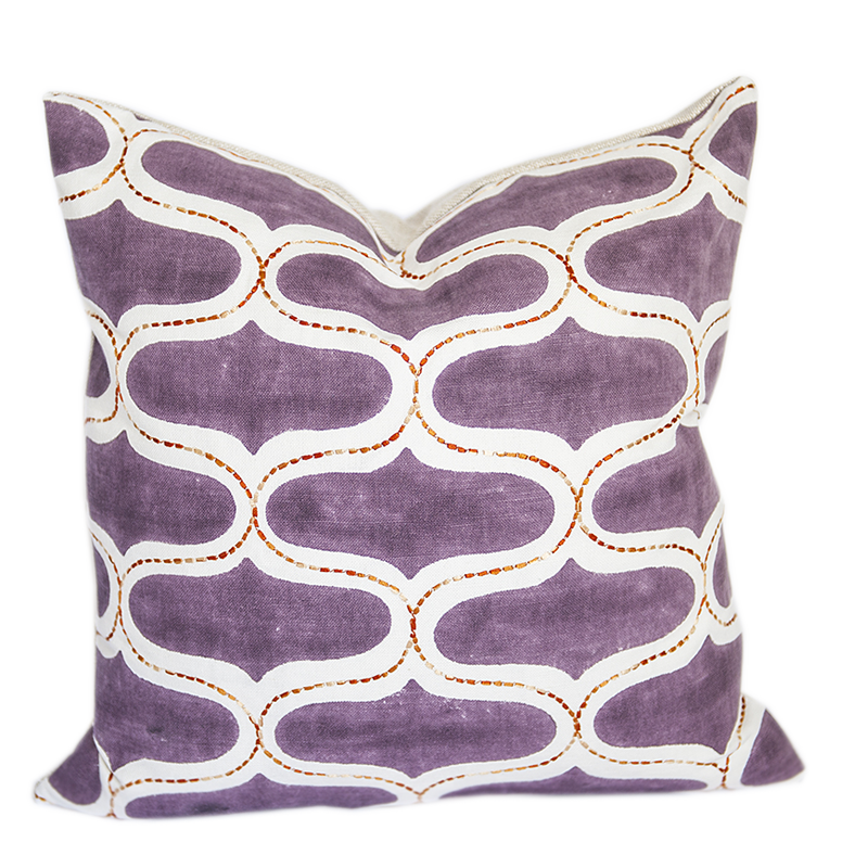 Juhu Brinjal Purple Pillow