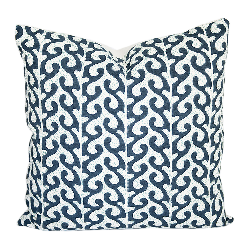 Breach Candy Mughal Blue Pillow