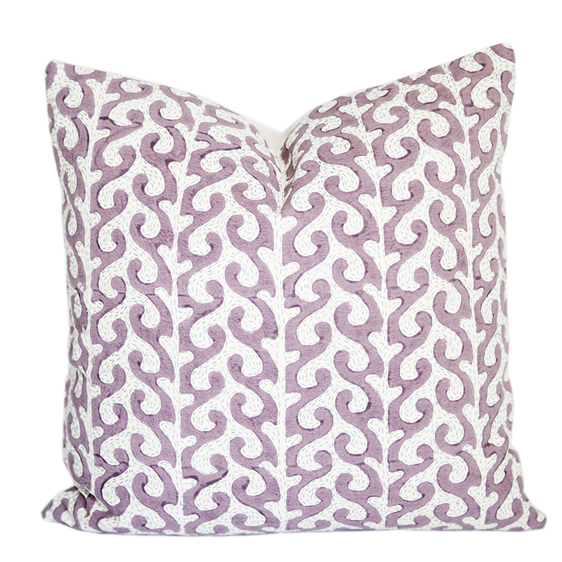 Breach Candy Anjeer Lilac Pillow Cover