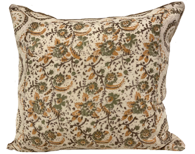Faded Sonoma Ivory Batik Pillow