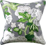 Grey Blossoms Slate Pillow