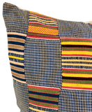 Vintage African Patchwork Pillow
