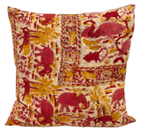 Elephant Batik Pink Pillow (pair)
