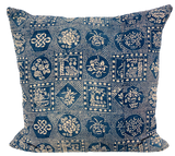 Hmong Indigo Batik Pillow (pair)