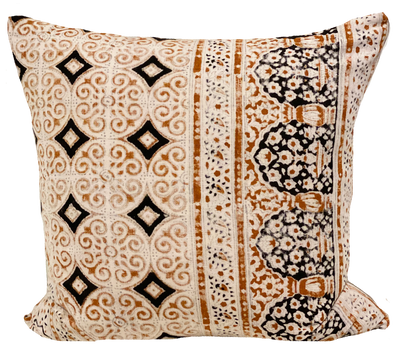 Vintage Tile Block Print Pillow (pair)
