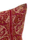 Vintage Berry Kantha Pillows (pair)