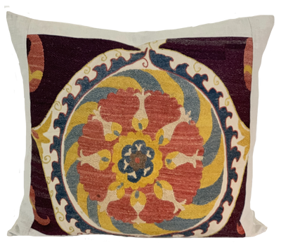 Embroidered Multi Ottoman Suzani Pillow