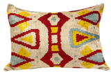 Denizli Velvet Ikat Pillow