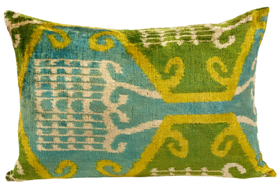 Aydin Velvet Ikat Pillow