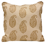 Kashmir Paisley Gold Pillow