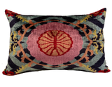 Dahi Multi Velvet Ikat Pillow
